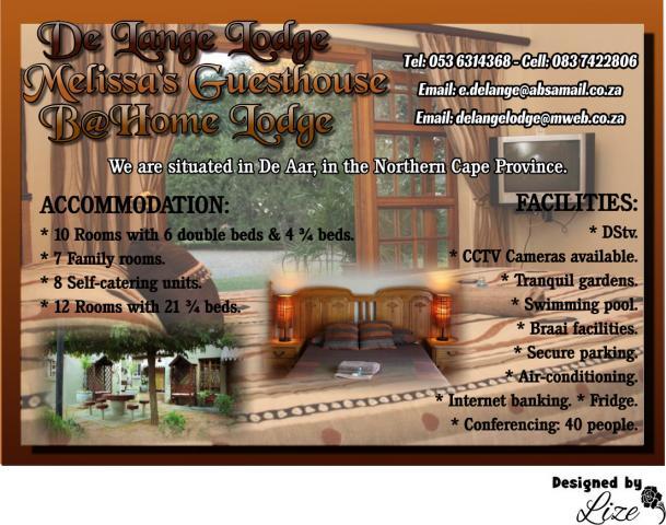 De Lange Lodge / Melissa's Guesthouse / B@Home Lodge