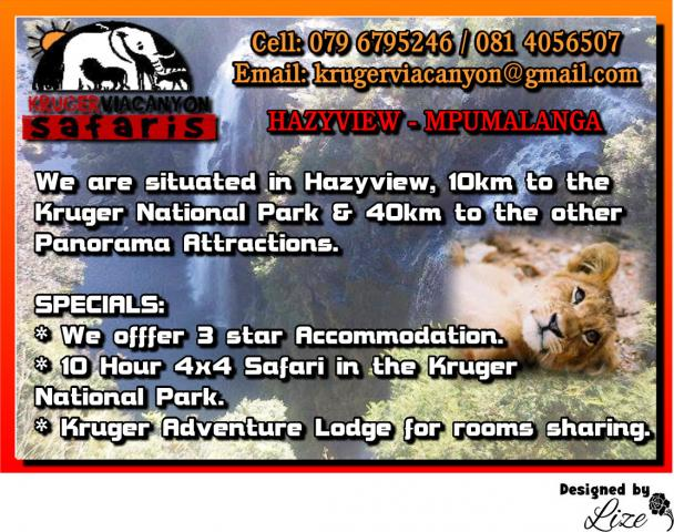 Kruger via Canyon Safaris