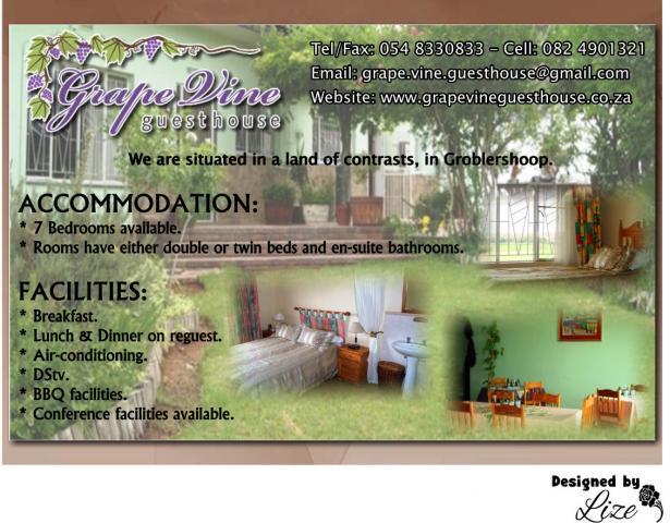 Grape Vine Guesthouse / Kheis Riverside Lodge