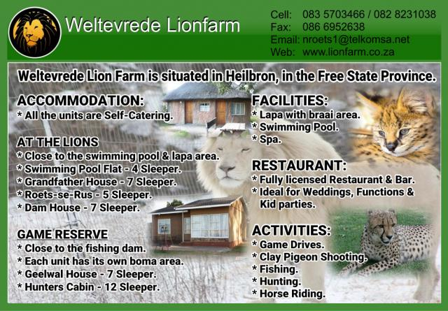 Weltevrede Lion Farm