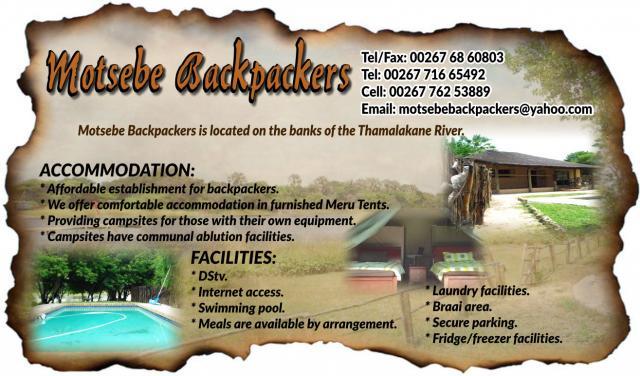 Motsebe Backpackers