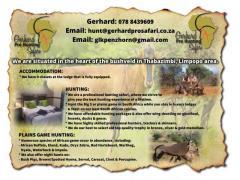 Gerhard Pro Hunting Safari