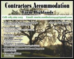 Contractors Accommodation Farm Highlands