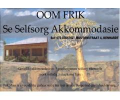 Oom Frik se Selfsorg Akkommodasie