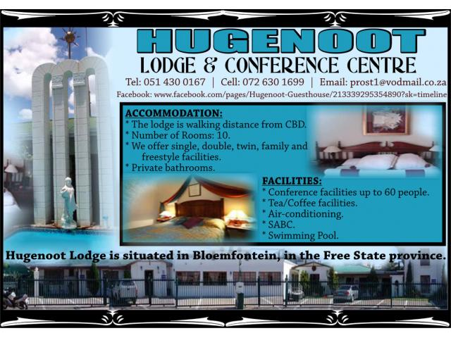 Hugenoot Lodge & Conference Centre