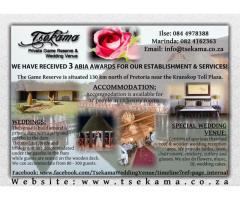 Tsekama Private Game Reserve & Wedding Venue