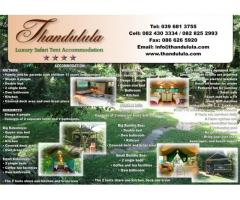 Thandulula Luxury Tent Accommodation