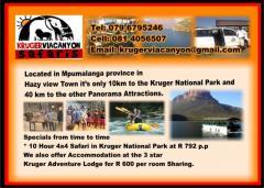 Kruger Via Canyon Safaris